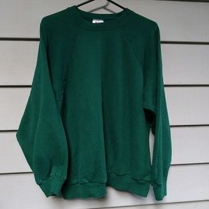 🍉$10 Vintage Hanes Forest Green Sweatshirt